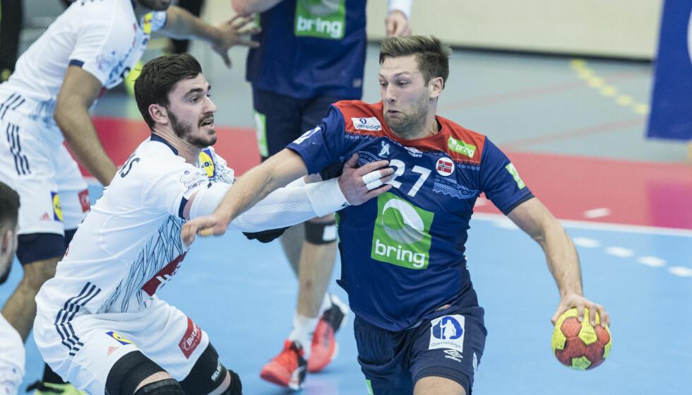 GOD: Harald Reinkind og de norske håndballgutta klarte uavgjort mot verdensmesteren. Foto: Vidar Ruud / NTB scanpix