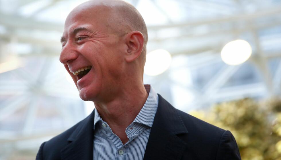 AMAZON: Amazon-gründeren Jeff Bezos var lørdag på besøk i Alta i Finnmark. Foto: NTB Scanpix