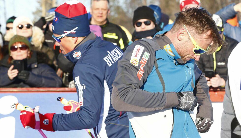 KAN BLI LAGKOMPISER: Johannes Høsflot Klæbo og Petter Northug kan bli lagkamerater på sprintlandslaget neste sesong. Foto: Terje Pedersen / NTB scanpix