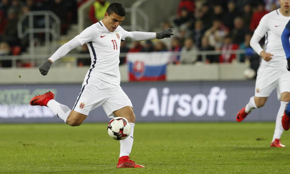 SCORET: Mohamed Elyounoussi, her for Norge, gjør det bra for klubblaget også. Foto: Bendiksby, Terje / NTB scanpix