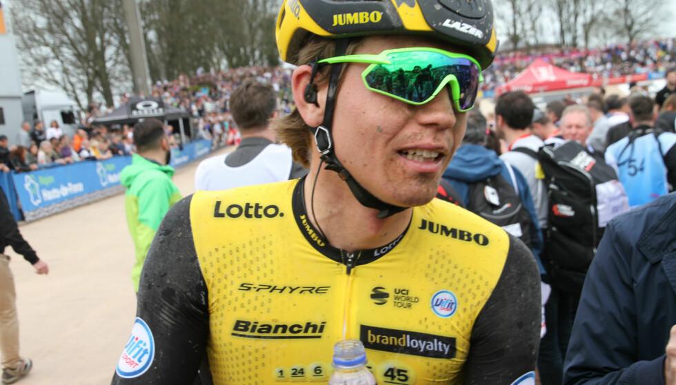 IMPONERTE: Amund Grøndahl Jansen ble nummer 16 i Paris-Roubaix. Foto: Jarle Fredagsvik, procycling.no.