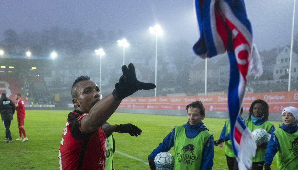HELT: Bismar Acosta ble dagens mann i Bergen. Foto: Fredrik Hagen / NTB scanpix
