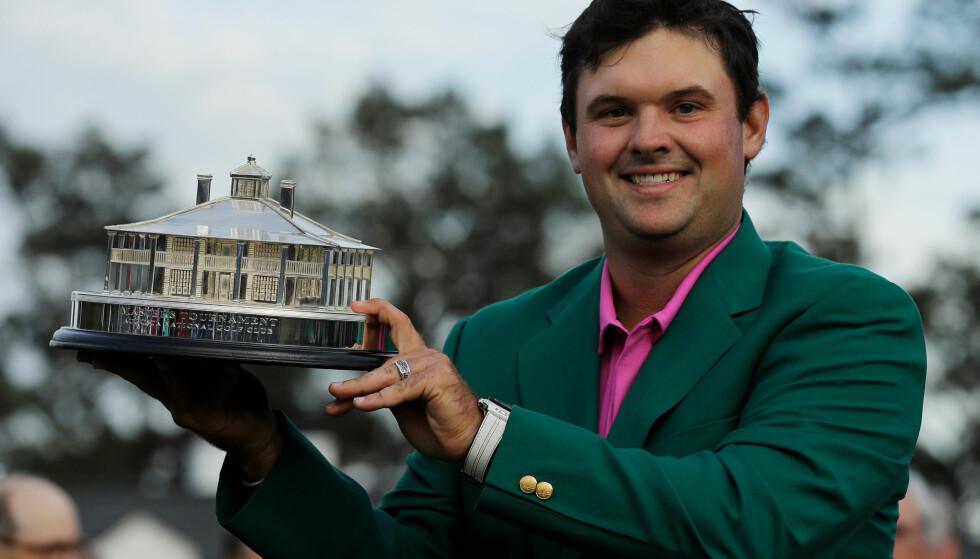 SEIER: Søndag ble første gang Patrick Reed vinner en majorturnering. Foto: AP Photo/David J. Phillip