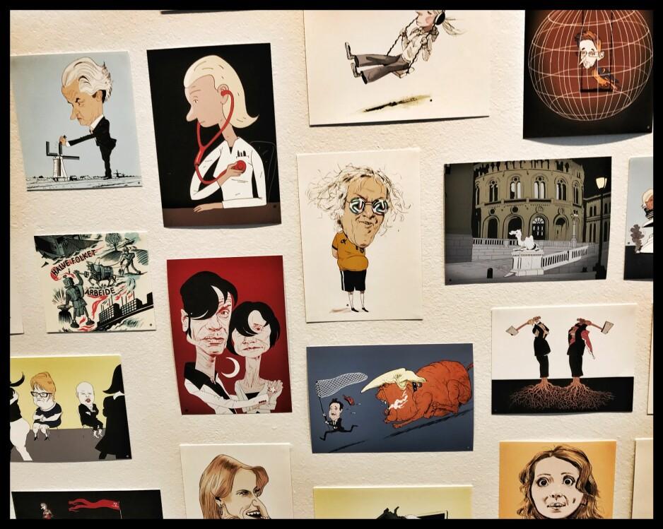 FORT DEG: I Tegnerforbundets lokaler i Oslo er det fortsatt mulig å få ed seg Marvin Hallerakers arbeider som er pur klasse innen faget. Foto: Tom Stalsberg.
