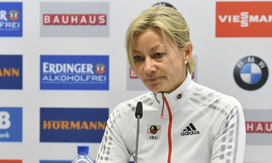 INN TIL AVHØR: Generalsekretær i IBU, Nicole Resch, skal ha blitt tatt inn til avhør av østerriksk politi. Foto: NTB Scanpix/AP Photo/Kerstin Joensson