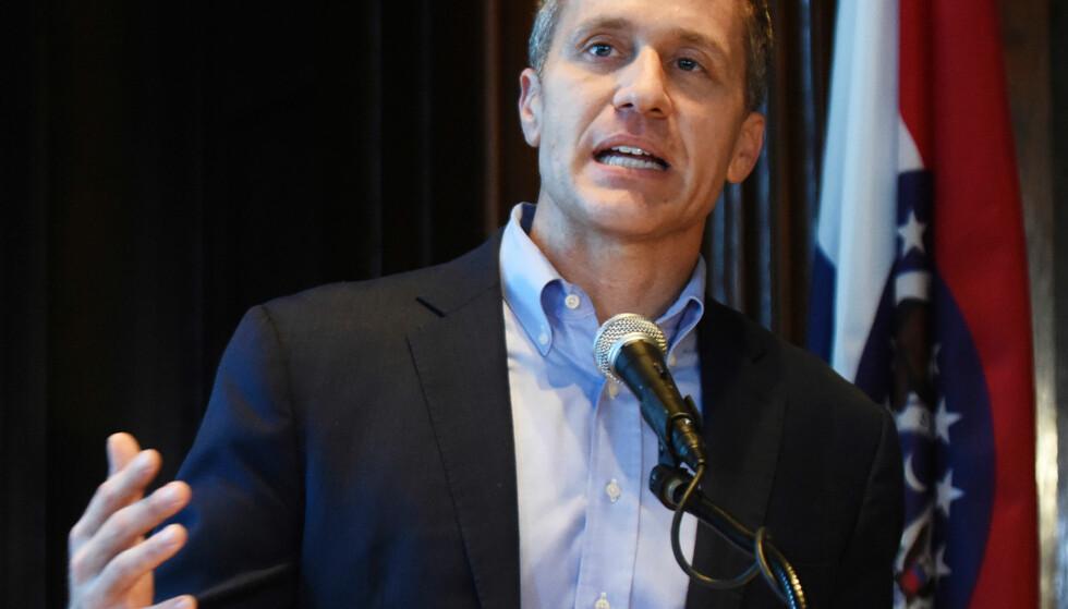 GÅR IKKE AV: Missouri-guvernør Eric Greitens nekter å gå av, og hevder han er utsatt for en heksejakt. Foto: Julie Smith / The Jefferson City News-Tribune / AP / NTB scanpix.