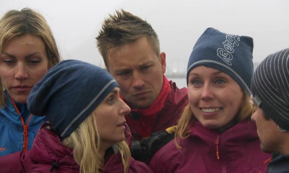 TRAKK SEG: Det ble tårevått da Karoline Dyhre Breivang trakk seg fra «71 grader nord» i kveldens episode. Foto: TVNorge