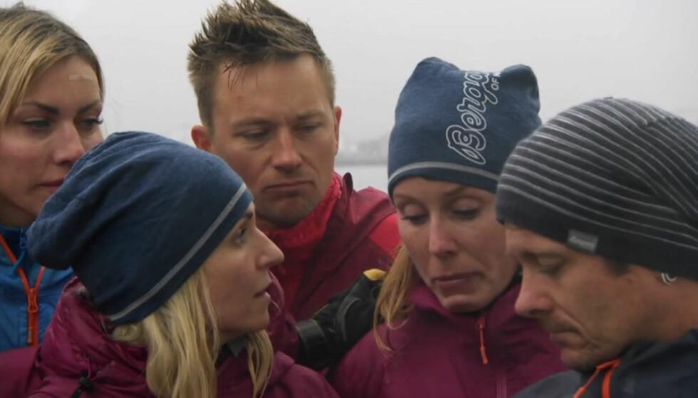 TRIST: Det var trist stemning da Dyhre Breivang fortalte om beslutningen sin. Foto: TVNorge