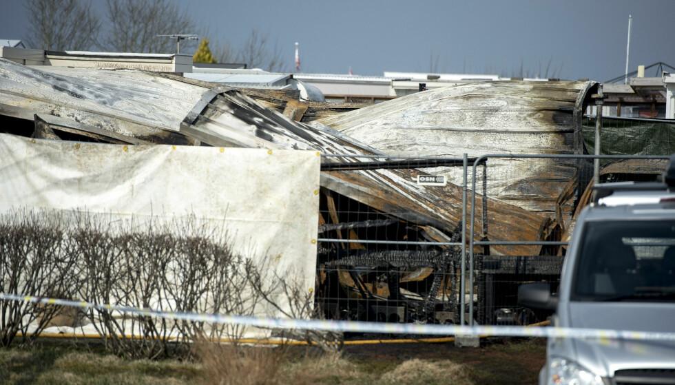 DØDSBRANN: Tre personer døde i brann i en campingvogn på Sokn Camping i Rogaland. Foto: Carina Johansen / NTB Scanpix