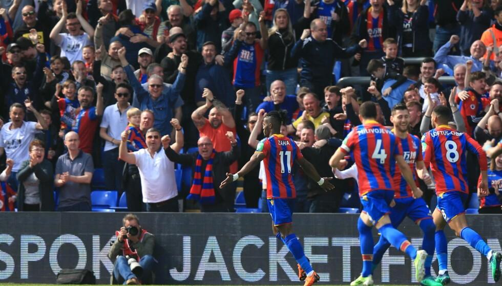 MATCHVINER: Wilfried Zaha scoret to i Crystal Palace seier over Brighton. Foto: TGSPhoto/REX/Shutterstock/NTB Scanpix