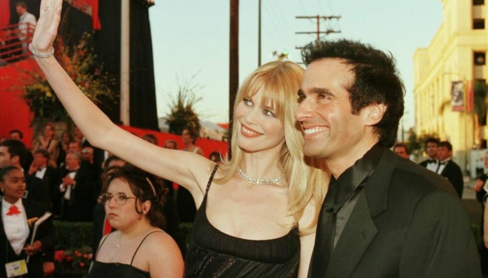 POPULÆRT PAR: David Copperfield og supermodell Claudia Schiffer var et populært par på 90-tallet. Foto: NTB Scanpix