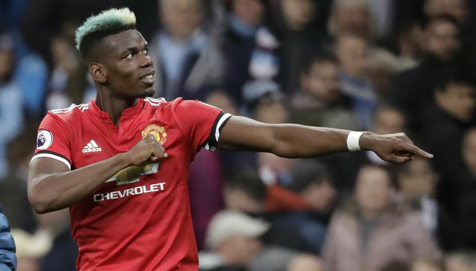 OPP OG NED: Paul Pogba har svingt i prestasjonene for Manchester United. Foto: NTB scanpix