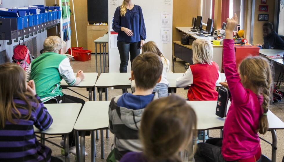 11. KLASSE? Innen denne gjengen er ferdig med grunnskolen, kan det være vanlig å ta et ekstra skoleår i Norge. Foto: Lars Eivind Bones / Dagbladet