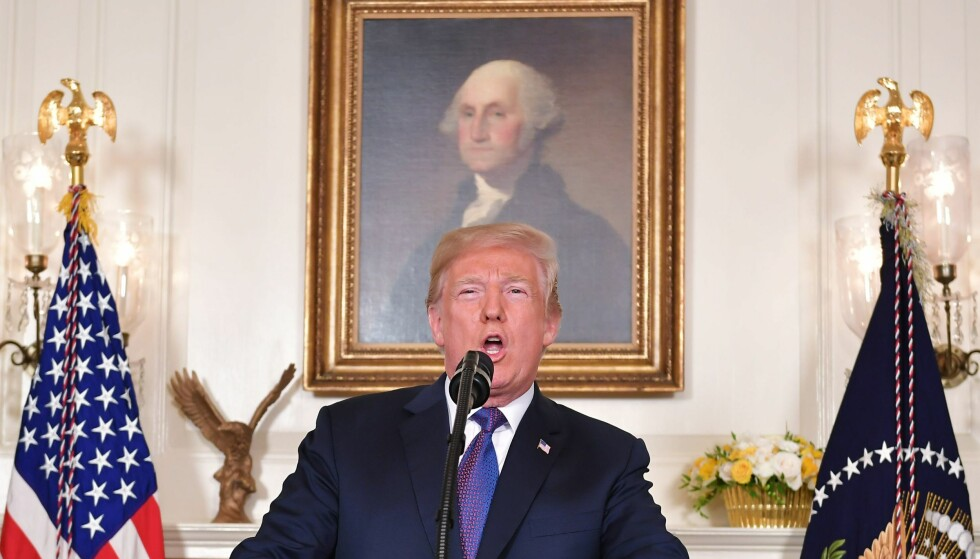 PRESSES: Rykter sier at russernes sexvideo kan presse Donald Trump. Foto: AFP PHOTO / Mandel NGAN