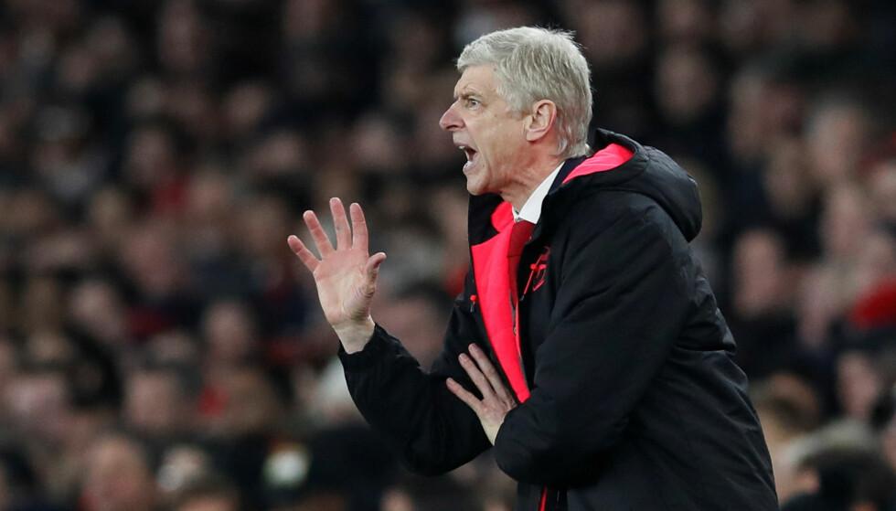 TRÅ SESONG: Arsene Wenger og Arsenal har ikke imponert voldsomt denne sesongen. Nå handler alt om å karre seg til en sjetteplass i ligaen. Foto: David Klein / Reuters