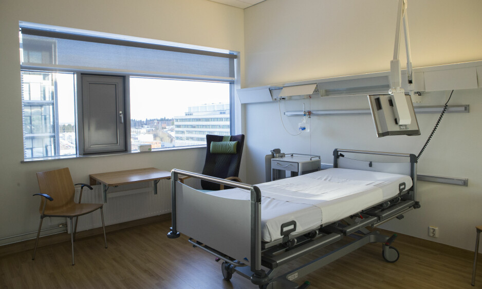 NEDGANG: Det blir stadig færre sengeplasser på norske sykehus. Foto: NTB scanpix