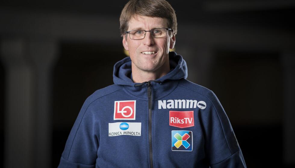 Arrangementssjef for hopplandslaget Ståle Villumstad forteller hva som skal til for at det blir verdenscup i Trondheim, Lillehammer og Vikersund i fremtiden. Foto: Junge, Heiko / NTB scanpix