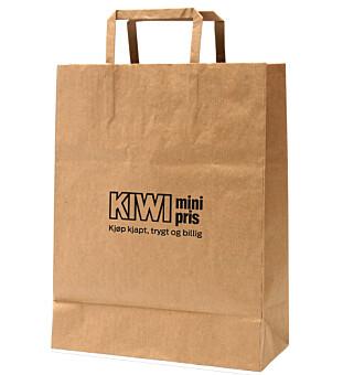 <strong>KOMMER SNART:</strong> I mai vil Kiwi tilby papirposer i alle deres 652 butikker.