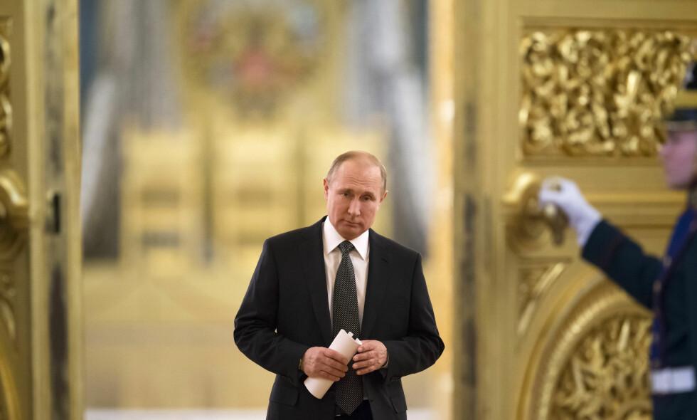 PRESIDENT: Russlands president sier han vil gå av i 2024. Det samme gjorde han i 2008, og fungerte som statsminister i fire år før han ble gjenvalgt. Foto: NTB Scanpix