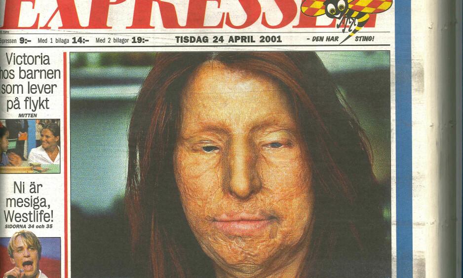 17 ÅR SIDEN: Maria Rashidi stod fram i Expressen den 24. april 2001. Nå står hun igjen fram med sin smertefulle historie. Faksimile: Expressen