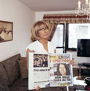 I DAG: Maria Rashidi forteller Expressen om smertene ved syreangrepet. Hun har stått fram i avisa også tidligere. Foto: MIKAEL SJÖBERG / EXPRESSEN
