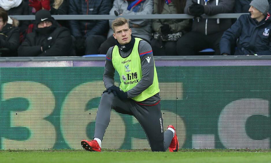 UBENYTTET RESERVE: Alexander Sørloth har ikke vært på banen for Crystal Palace siden 2-1-tapet mot Chelsea 10. mars. Foto: Dan Weir / PPAUK / REX / Shutterstock / NTB Scanpix