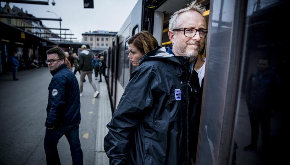 GRØNN TRANSPORT: WWF-sjef Bård Vegar Solhjell frykter at enigheten om nullvekst for biltransporten i byene står for fall. Nå vil han ha et alternativ til bompengene som han mener har gått ut på dato. Foto: Christian Roth Christensen / Dagbladet