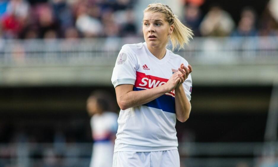 UAVGJORT: Ada Hegerberg og Lyon spilte 0-0 mot Manchester City i Champions League. Foto: REX/Shutterstock