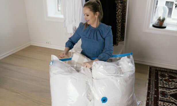 TIL OFF SEASON-PRODUKTER: Vinterdyner og boblejakker kan med fordel lagres i vakuumposer.