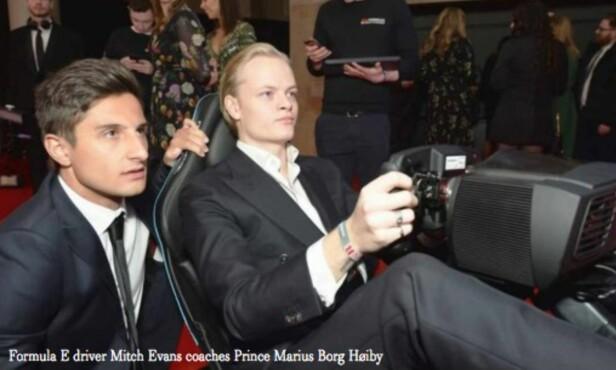 KJENDISFEST: Tempus omtaler Marius Borg Høiby som prins i en sak om etterfesten til Brit Awards i siste utgave av magasinet. Faksimile: Tempus