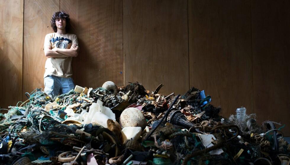 VIL RYDDE OPP: Boyan Slat er grunnlegger og administrerende direktør av The Ocean Cleanup, som utvikler systemer for å fjerne plastikk fra havet. Foto: AFP / THE OCEAN CLEANUP
