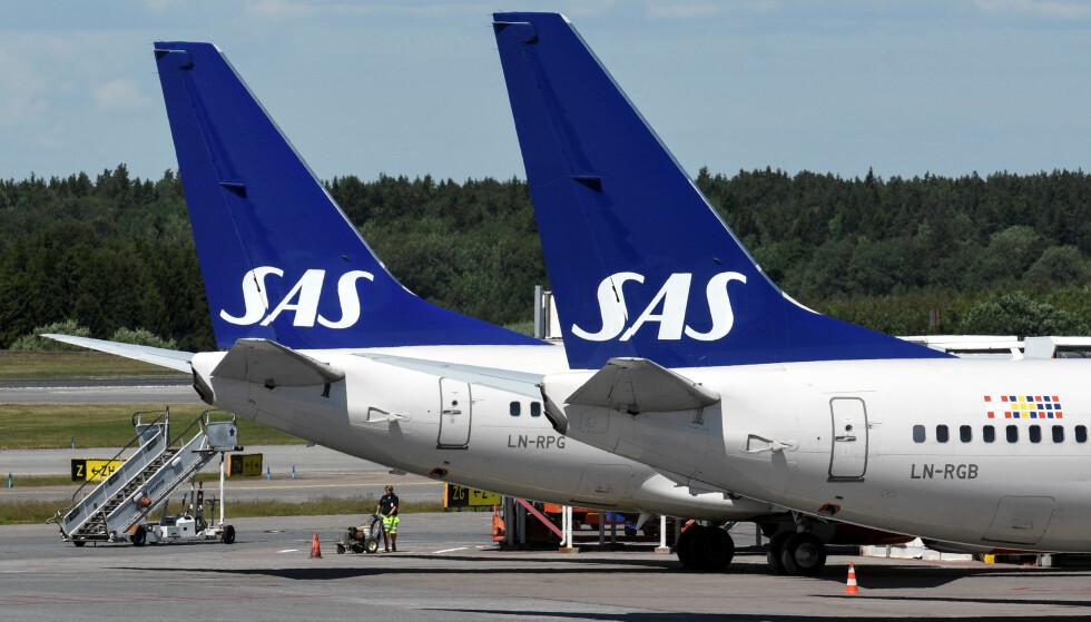 FYLLESKANDALE: Flygeledere på vei til et arrangement i Kiruna skapte meget utrivelig stemning på en SAS-flight som tok av fra Arlanda søndag. Foto: TT News Agency / Vilhelm Stokstad /via REUTERS / NTB scanpix