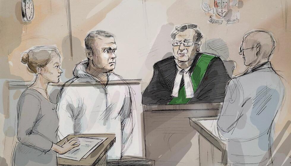 SIKTET: Tirsdag møtte Alek Minassain til fengslingsmøte i Toronto. Der ble han siktet for ti drap, og 13 forsøk på drap. Foto: NTB Scanpix