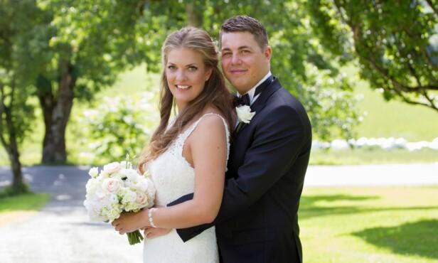 GA EKTESKAPET MANGE SJANSER: Katarina Lennart Pavlovic (30) og Rune Larsen (29) giftet seg i august i fjor. Nå er de separert. Foto: Christine Heim / TVNorge