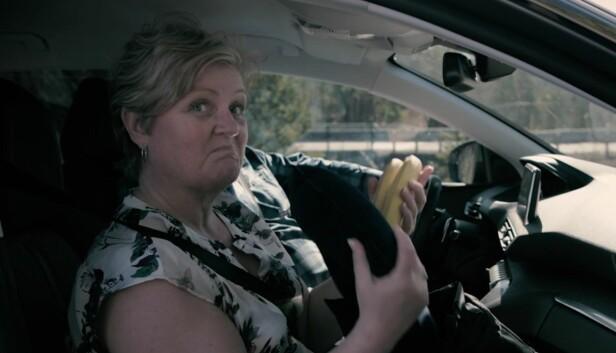 ALT I ÉN SEKK: Mamma Heidi likte vårt sekke-tips, og vil fra nå av pakke det viktigste familien trenger i én sekk. Slik slipper de unødvendig rot i bilen.