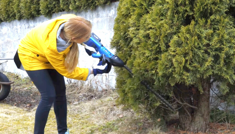 ENKELT: Hekksaksen fungerer like bra til hekk som til busker og trær.