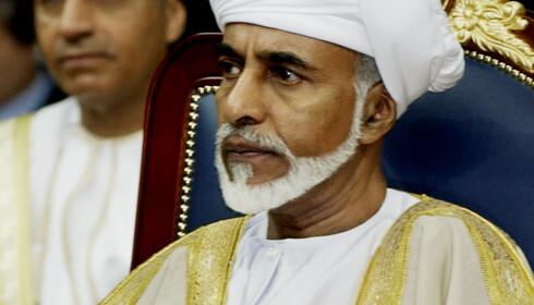 SLEKTNING: Sultan Qabus ibn Said av Oman er en slektning av personen som eier eiendommen Avicii ble funnet død på. Foto: NTB scanpix