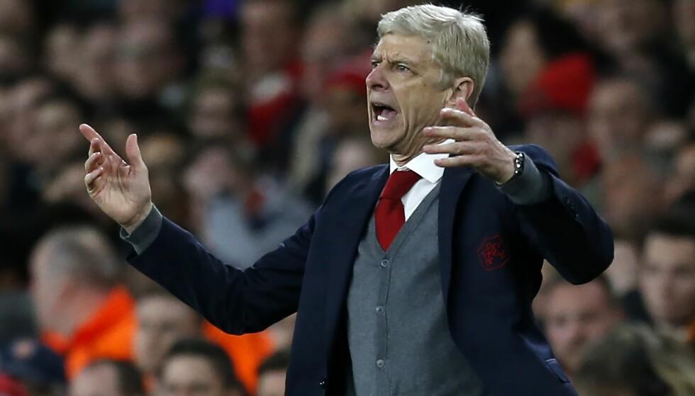 FORTVILET: Arsène Wenger og hans Arsenal hadde en gyllen mulighet til å få med seg et godt resultat fra hjemmebane. Den kastet de bort. Foto: AFP/ Ian Kington