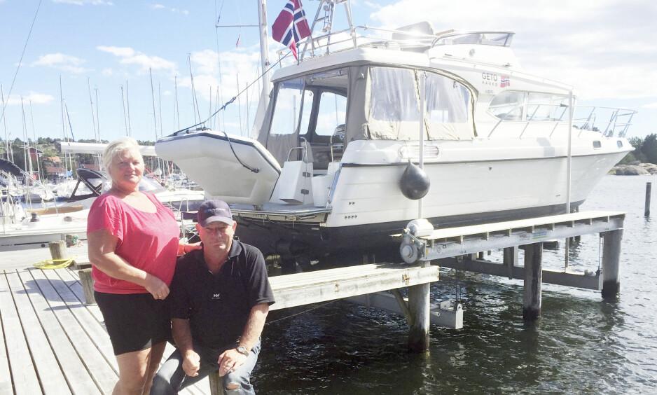 EUROPATUR: Gerd og Thomas Lyng vel tilbake i Vikane etter et års tur på Europas kanaler. Foto: Gerd og Thomas Lyng