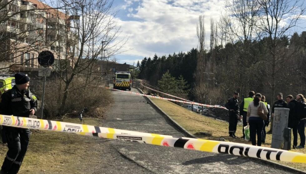 SKUTT: En 18 år gammel mann ble skutt i hovedpulsåren i beinet på Holmlia 24. april i år. Foto: Anita Arntzen / Dagbladet