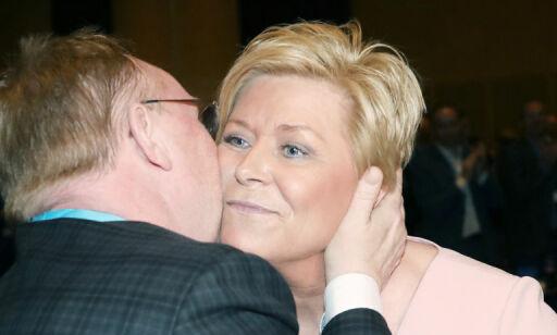 image: Siv Jensen om Støre: - Svak leder i spagat