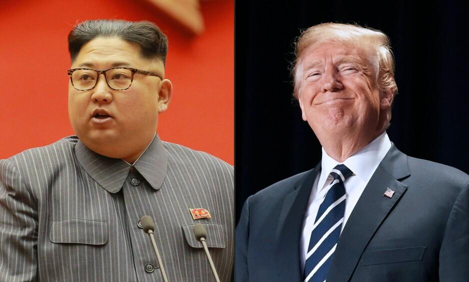 SKAL MØTES: Etter dagens avtale mellom Nord- og Sør-Korea, skal Nord-Koreas diktator Kim Jong-un også møte USAs president Donald Trump til toppmøte. Der kan mye av landets atomframtid bli avgjort. Foto: AFP PHOTO / KCNA /NTB Scanpix