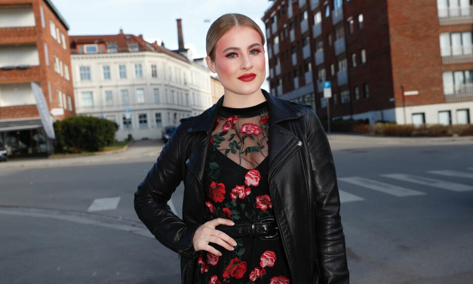 PÅ FEST: Da Dagbladet møtte Katharina. G. Andresen på fest fredag kveld, kunne hun avsløre at hun har fått seg kjæreste. Foto: Andreas Fadum/Se og Hør.