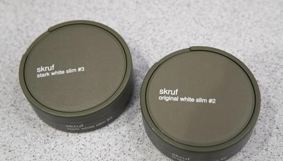 Skruf snus har kommet i en ny innpakning. Mer delikat, mener flere designere. Foto: Terje Bendiksby / NTB scanpix