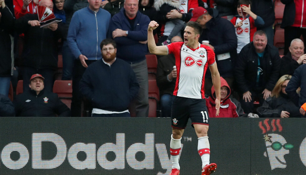 DOBBEL: Dusan Tadic ble den store helten med to mål mot Bournemouth. Foto: REUTERS/David Klein/NTB Scanpix