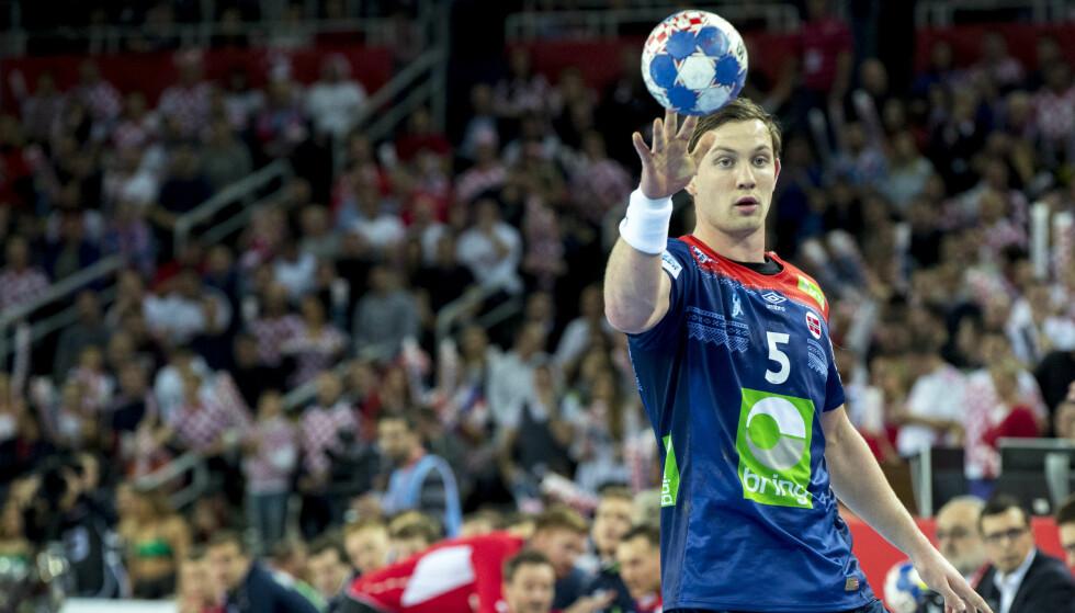 LEVERTE: Sander Sagosen bidro med fire mål for PSG lørdag. Her avbildet i aksjon for landslaget. Foto: Vidar Ruud / NTB scanpix