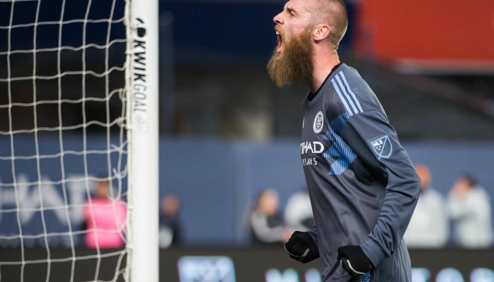 ASSIST: Jo Inge Berget leverte en målgivende pasning mot FC Dallas i MLS. Foto: Mike Lawrence/ISI/REX