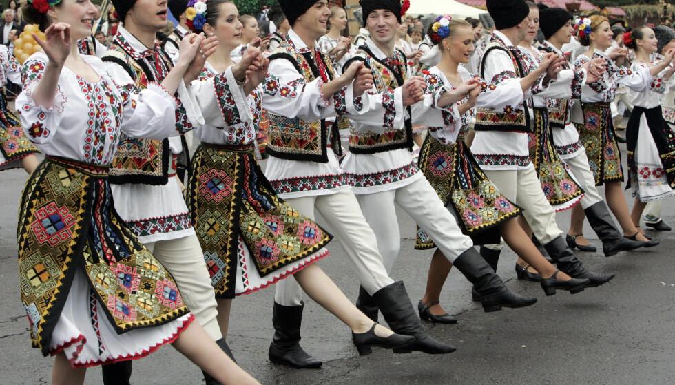 <strong>VIN-FESTIVAL:</strong> Hver høst arrangeres det en stor festival til vinens ære i Moldova. Foto: Reuters / NTB Scanpix