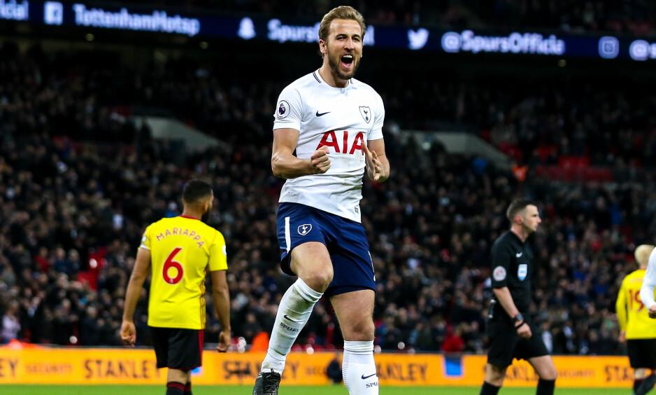 MÅL: Harry Kane kunne juble for scoring, men burde kanskje hatt et par til i kampen mot Watford. Foto: Robbie Stephenson/jmp/rex/shutterstock