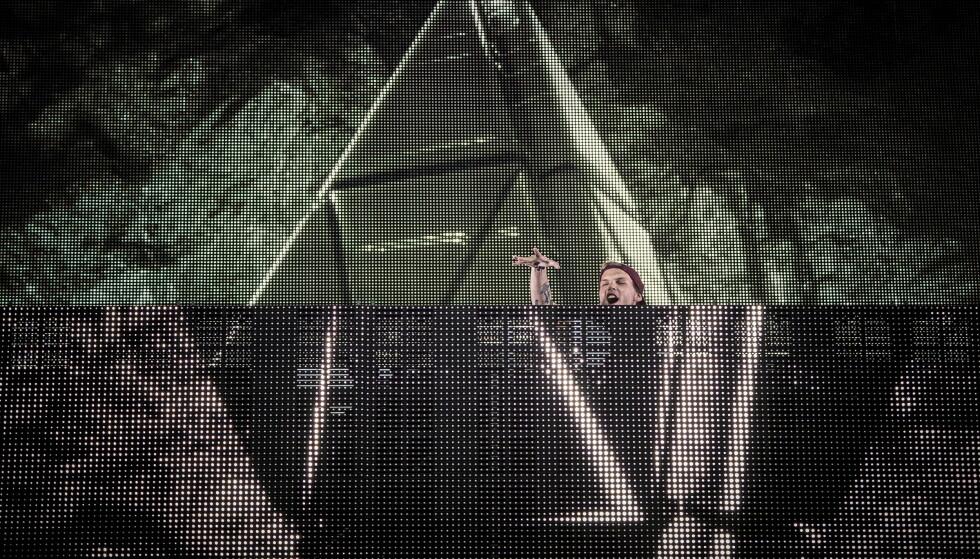 I OSLO: Tim Bergling, kjent som Avicii, spilte flere ganger i Norge. Han sørget blant annet for feststemning på Findings-festivalen i Oslo i 2014 og 2015. Foto: Lars Eivind Bones / Dagbladet